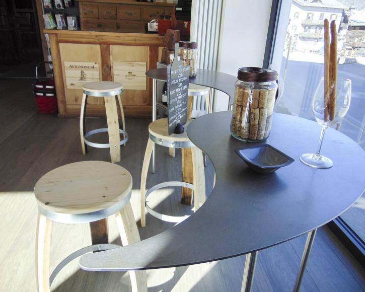 Tavolo enoteca a Livigno